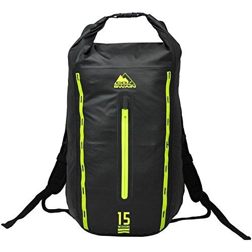Cox Swain 15L Rucksack Liam Ultralite - wasserdichter Outdoor Packsack für Fahrrad, Motorrad etc, Colour: Dark Grey/Black