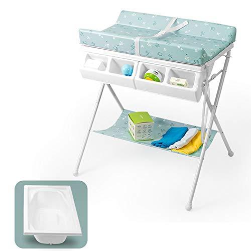 WZHIJUN Multifunctionele baby luiertafel opvouwbare massagetafel, met opbergdoos