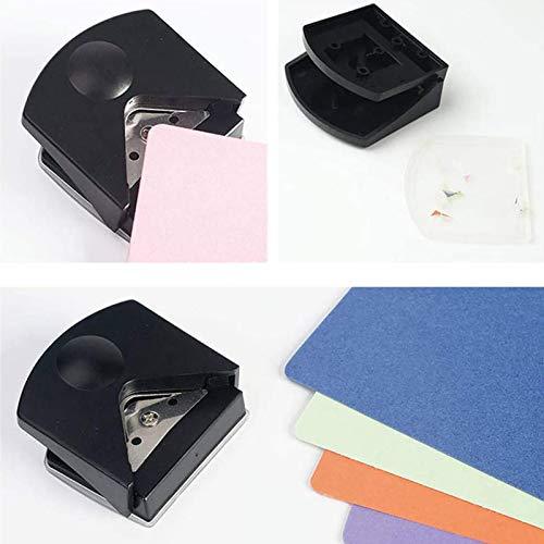Qians Cortador De Esquinas De Papel Perforador De Esquinas Redondeado Práctico Y Conveniente Redondeador para Película Plástica De PVC Corte De Tarjetas Fotográficas Esquinas Redondas Fabulous