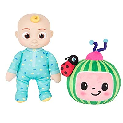 "CoComelon JJ and Melon Plush Stuffed Animal Toys, 2 Pack - 8"" Plush - for Ages 18 Months and up by Jazwares"