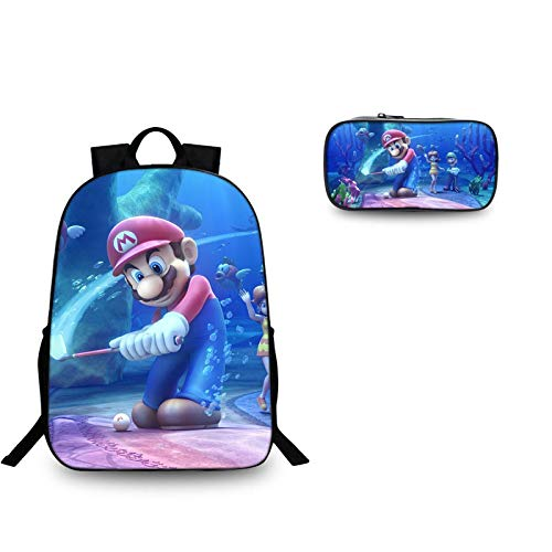 XINFAN School bag 13 inch School Bags Mario Bros Sonic School Backpack for Girls Boys Orthopedic Schoolbag Backpacks Children Book Bag