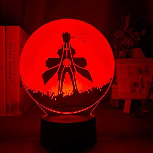 Children's LED Night Light Kakashi Sasuke Sakura Naruto Children's Bedroom Decoration Color Night Light 3D Light
