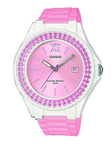 Casio Reloj Analógico para Mujer de Cuarzo con Correa en Acero Inoxidable LX-500H-4E3VEF