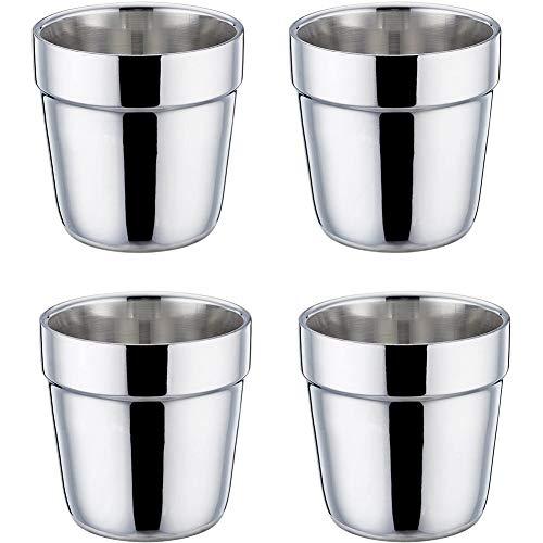 Taza de Acero Inoxidable - Vasos Copas de Metal Tumbler Apilables Premium,Taza...