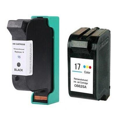 Prestige Cartridge HP 15 / HP 17 Pack de 2 cartuchos de tinta para HP DeskJet Serie, color y negro