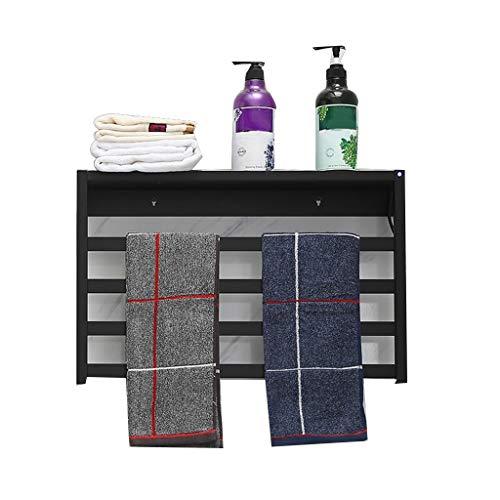 OCYE elektrische handdoekenverwarming, wandmontage, met plank, tijdschakelaar/temperatuurweergave, stopcontact