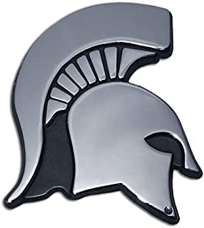 Michigan State University Spartans Metal Auto Emblem - Many Available! Silver MSU38