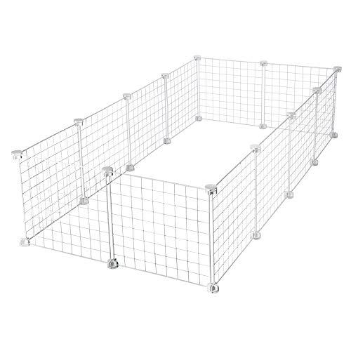 CagesCubes - Jaula CyC Grande para cobayas (2X4 Paneles en Blanco)
