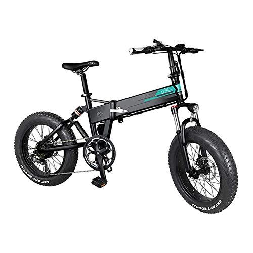 WHYTT Bicicleta de montaña eléctrica Plegable Plegable Ebike 250W Desviador de 7...