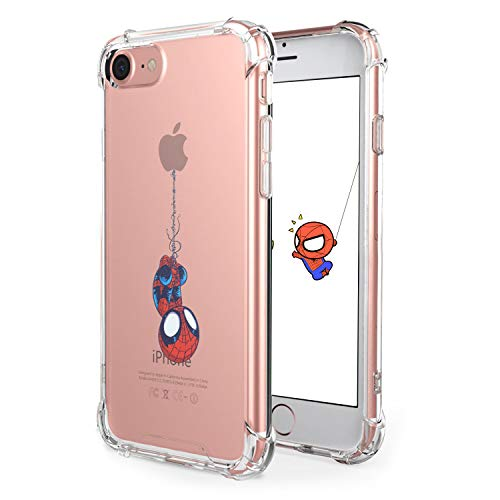 STSNano Case for iPod Touch 5/6/7 Fashion Cute Cartoon Soft TPU Silicone Cover, Funny Spider Design Fun Clear Anime Protective Skin Slim Fit Ultra-Thin Shockproof Teens Cases for iPod Touch 7&6&5