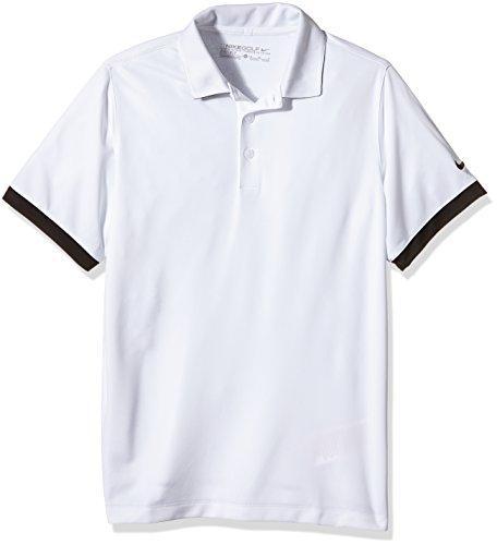 NIKE Icon - Polo para niño, Color Blanco/Negro, Talla XL