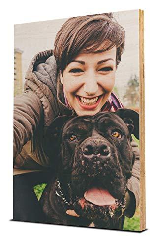 wandmotiv24 Ihr Foto auf Holz - 1-teilig - Hochformat 20x30cm (BxH), SOFORT ONLINE VORSCHAU, personalisiertes Holz-Bild mit Wunsch-Motiv, eigenes Wandbild auf Holz, Fotogeschenke, Geschenke,