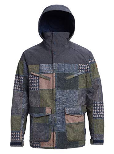 Burton Herren Breach Jacket Snowboard-Jacken, Patchwork Yardage/Denim, X-Large