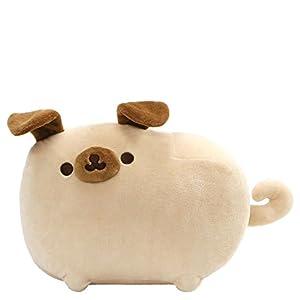GUND Pusheen Pugsheen Stuffed Plush Dog with Poseable Ears, Tan, 9.5″, Model Number: 4061299