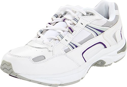 Vionic Women's Walker Classic Walking Shoes with Concealed Orthotic Arch Support Purple Leather 10.5 Wide US