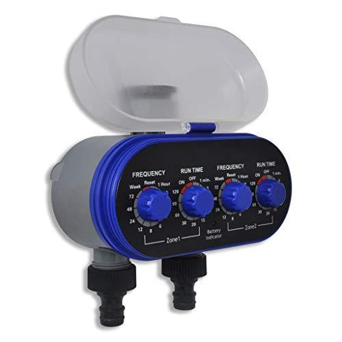 vidaXL Programmatore timer irrigazione elettronico automatico per orto 2 vie