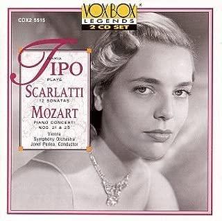 Maria Tipo Plays Scarlatti (12 Sonatas) and Mozart (Piano Concerti Nos. 21 & 25) (1994) Audio CD
