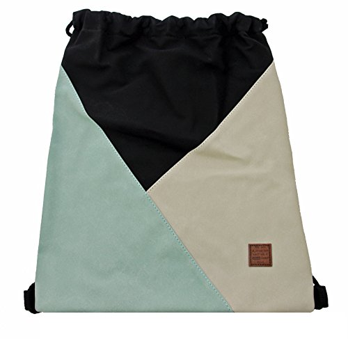 Gym Bag Style Mint in coolem Patchwork-Design Sport-, Turnbeutel, Rucksack, Daypack