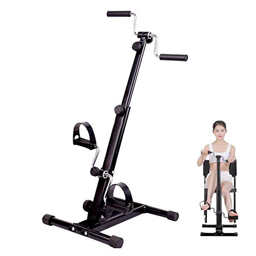 Zinnor Rehabilitation Bicycle Adjustable Stroke Rehabilitation Equipment Upper and Lower Portable Pedal Exerciser Bike Arm and Leg Exerciser for Seniors and Elderly