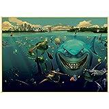 QWEAASD Poster, Cartoon-Film, Findet Nemo, Vintage-Papier,