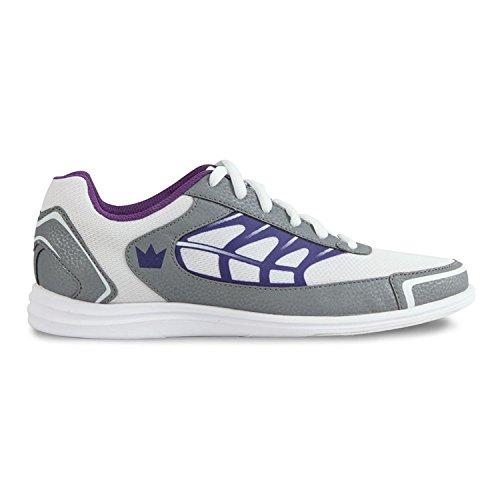 Brunswick Brunswick Damen Eclipse Bowling shoes- weiß/silber/lila, damen, White/Silver/Purple
