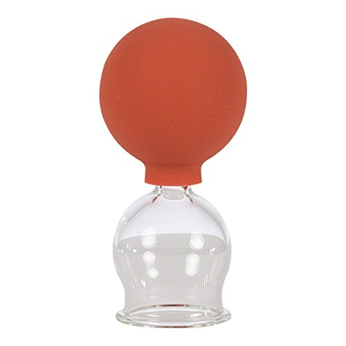 Schröpfglas mit Saugball zum professionellen,Gläser in 5 verschiedenen Größen (Durchmesser 2 bis 6 cm), medizinischen, feuerlosen Schröpfen Schröpfglas, Schröpfgläser, ANTI-CELLULITE MASSAGE (30mm)