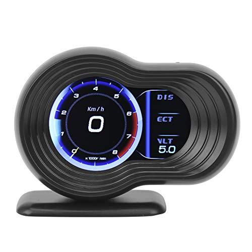 Qiilu Universal Head Up Display LCD OBD2 + GPS Auto HUD Multifunzionale Proiettore