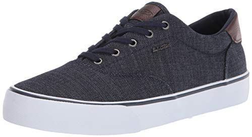 Lugz Men's Flip Sneaker, Navy/White/Saddle, 10.5 D US