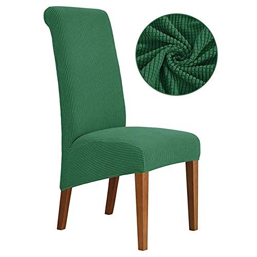 USEFGSBSGGAIUFH 1/2/4/6 Funda de silla de gran tamaño para respaldo largo de la silla, tamaño XL, funda de asiento estilo europeo tamaño SL para hotel banquete, color verde, 6 piezas