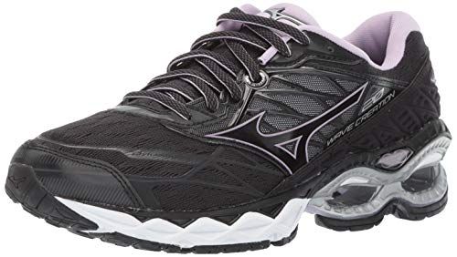 Mizuno Women's Wave Creation 20 Running Shoe, Black, 10 B US