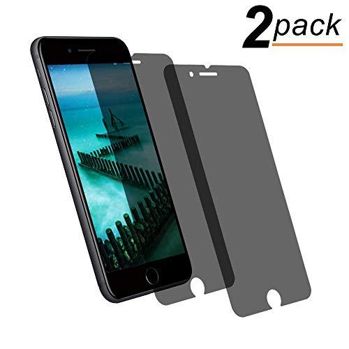 Privacy Pellicola Protettiva Compatible for iPhone 7 Plus/iPhone 8 Plus, Privacy Anti-Spia Vetro Temprato [9H Durezza] Pellicola Anti-Spia Protettiva Anti Spy Film (2 Pezzi)
