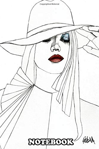 Notebook: Blue Eyeshadow Part Of A Series Of Fashion Illustration , Journal for Writing, College...