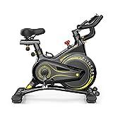 Bicicleta Giratoria Silenciosa Inteligente Estacionaria con Resistencia Velocidad Magnética y Bicicleta Ciclismo Interior Suave Impulsada Correa,Entrenamiento Gimnasio en Casa