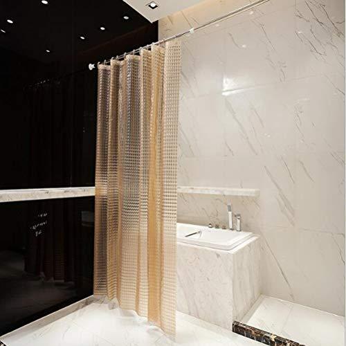LGYKMU Duschvorhang Anti-Schimmel Wasserdichter Badvorhang 3D Kristall Wirkung Mit 12 Weiße Haken Bad Vorhang Für Badzimmer,Orange,180 * 180CM