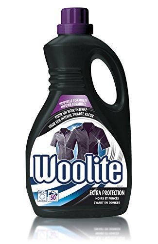 Woolite Flüssigwaschmittel schwarz und dunkelblau 3l