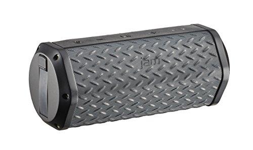 Jam Xterior Plus, waterdichte bluetooth box, draadloos en robuust, drijft op het water, vuil- en valbestendig, oplaadbaar, 8 uur batterijduur, bevestiging voor fiets, AUX en USB, zwart