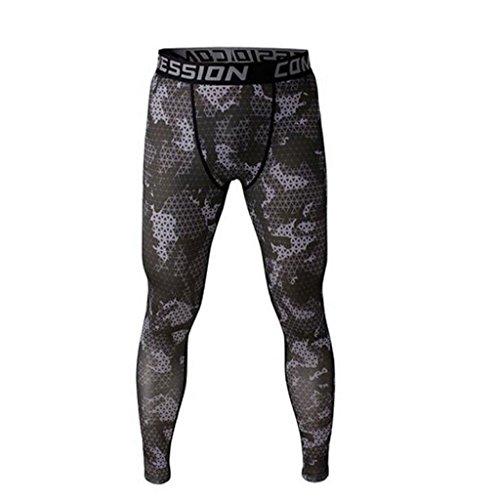 Männer Leggings lang Unterhose Unterwäsche Strumpfhose Herrenleggings Hose - Grau , XL