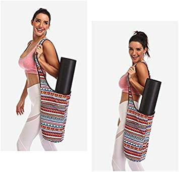Yoga Mat Tote Sling Carrier for Women Yoga Mat Bag Yoga Mat Carrier Fit Most Size Mats with Large Side Pocket /& Zipper Pocket Yoga Bags /& Carriers Fits All Your Stuff Kokiri