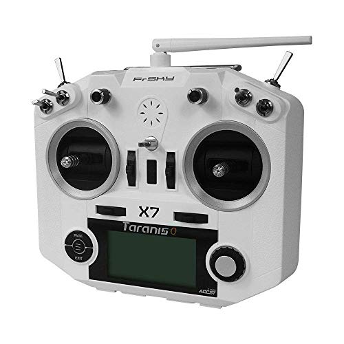 FrSky Taranis Q X7 2.4GHz ACCST 16CH Radio Transmitter Remote Controller - White (Excludes Battery, Battery Holder and Charger)