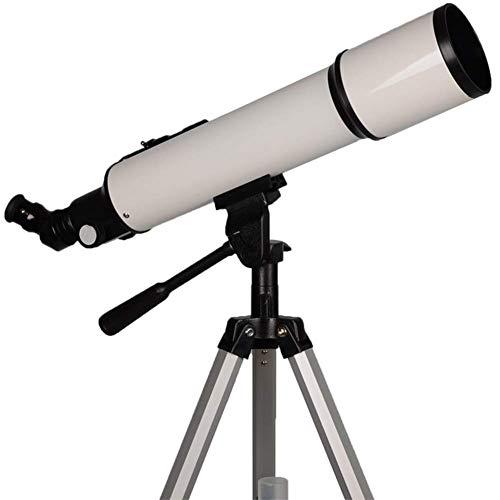 Jklnm Astronomischer Refraktor Teleskope Perfekt Zur Beobachtung Von Planeten Im Sonnensystem Und Hellen Deep-Sky Objekten LED Sucherfernrohr Und Zenith Spiegel