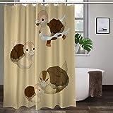 Turtle Ducks Duschvorhang aus hochwertigem Polyestergewebe, wasserdicht, für Badezimmer, 183 x 203 cm