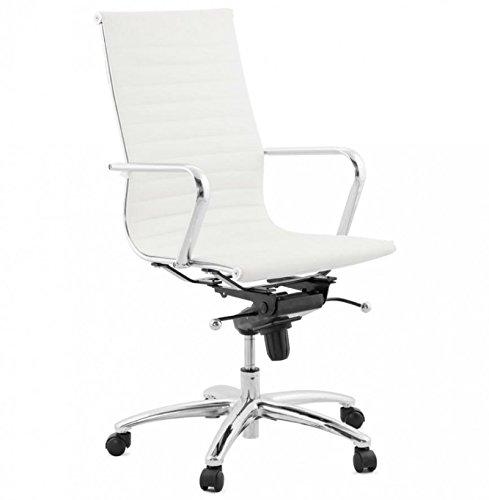 Koon Relik bureaustoel, design van kunstleer, wit, 67 x 67 x 113 cm