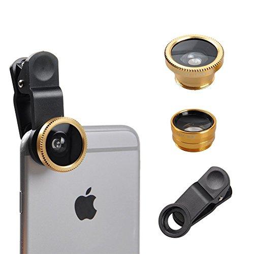 Fone-Case Microsoft Surface PRO 4 Clip Universale Il 3 in 1 Mobile Phone Camera Lens Kit 180 Gradi Fisheye + Macro Lens + Obiettivo grandangolare per Android e iOS