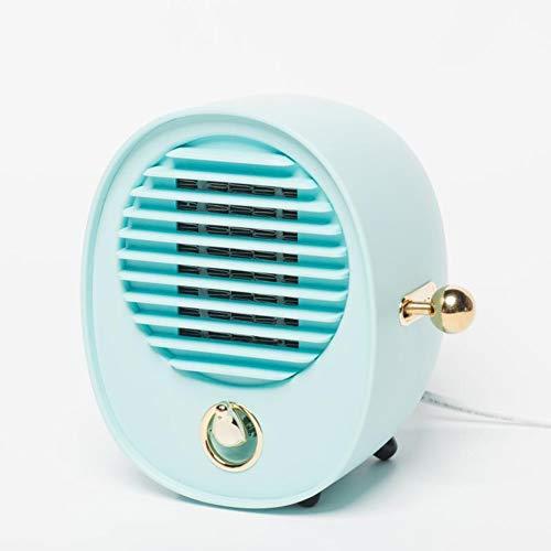 JT Chauffe Eau Portatif Mute Rapide De Bureau De Chauffage De Ventilateur,Blue,151X118X152MM