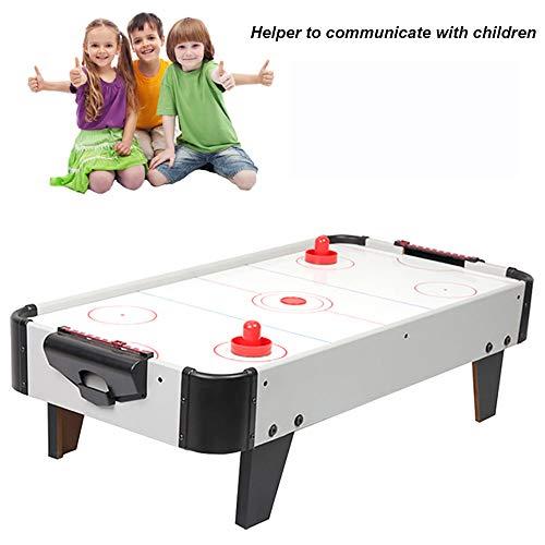 Air Hockey Juego de Mesa, tejo, Hockey de Aire Unisex, Juguetes interactivos Entre Padres e Hijos Mesa-Negro/Blanco, 80.5cm * 42cm * 22cm