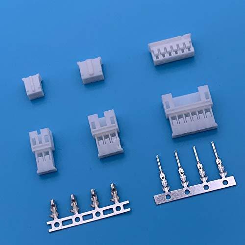 RENJIFAN 10 juegos PH2.0 2.0 mm cable conector PH enchufe macho y hembra JST acoplamiento aéreo para cable de carga de batería DIY (pines: 3P)