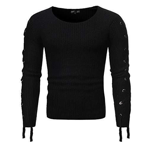 Camiseta casual para hombre Negro Negro ( M