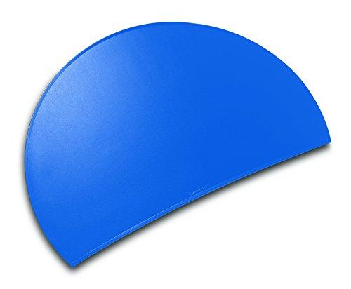 Läufer 49795 Durella Rondo Schreibtischunterlage, halbrund, rutschfeste Schreibunterlage, adria blau, 73 x 48 cm