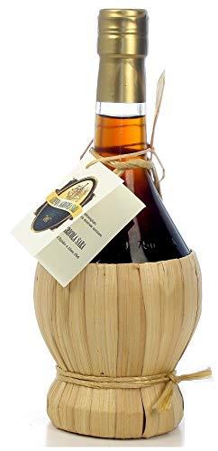Vino Cotto, liquore dolce tipico marchigiano ottenuto dalla bollitura di uve rosse montepulciano, fiasco impagliato da 500cl