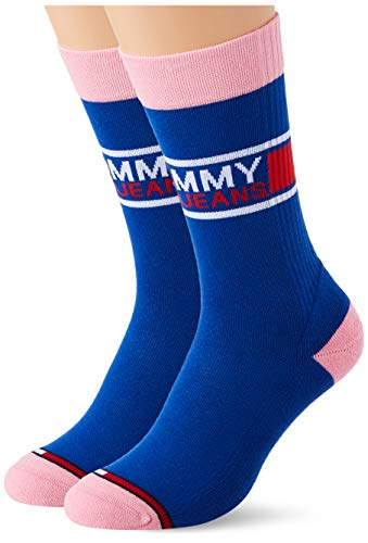 Tommy Hilfiger Tommy Jeans Crew Socks (2 Pack) Calcetines, azul oscuro, 39-42 Unisex Adulto